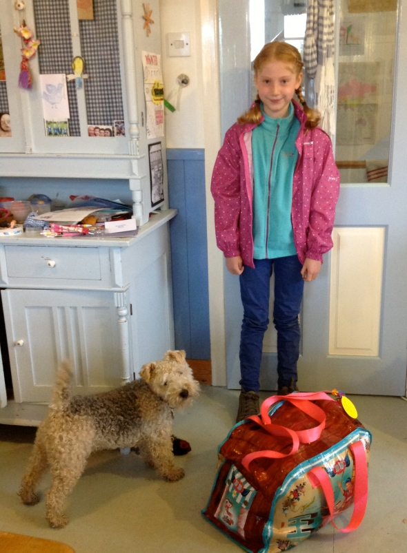 Happy daughter going to PGL, sad doggie!