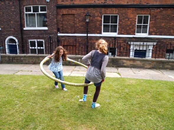 Jumbo hula hooping at Treacle