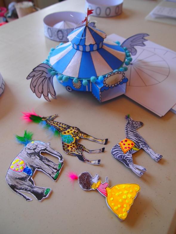 Florrie and Heidi's creations