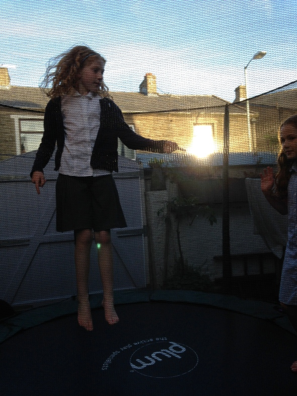 The trampoline!