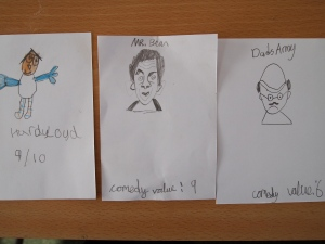 Comedian cards by Our Lady of Assumption School
