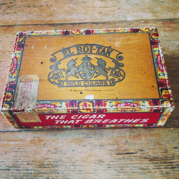 I couldn't resist this scrummy cigar box 50p
