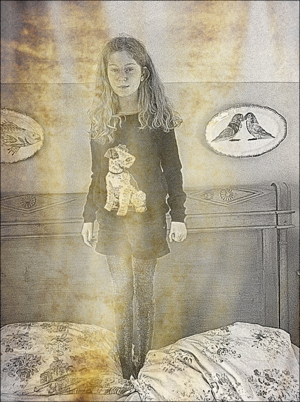 Florrie created a rather fabby photo edit with her pic of sparkly tights